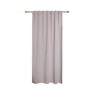 Image : Rideau obscurcissant gris beige l.140 x H.260 cm