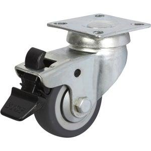 Image : Roulette pivotante à freins à platine, Diam.50 mm
