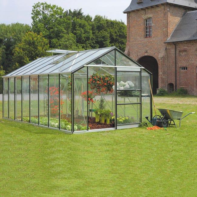 serre de jardin en verre trempé affinity 18236 m²