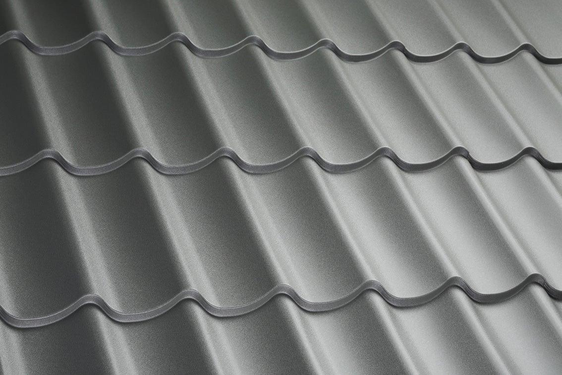 Plaque de toiture imitation tuile acier galvanisé gris l.0 ...