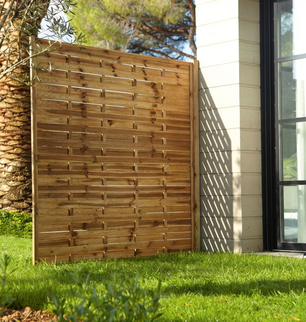 panneau bois occultant prestige l180 cm x h180 cm