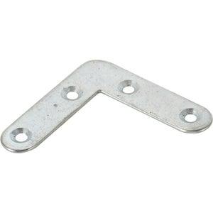 1 équerre d'assemblage plate acier zingué HETTICH, l.40 mm