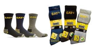 Lot de 3 paires de chaussettes de travail CATERPILLAR C-123 bk, noir taille 45/4