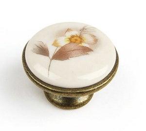 Image : Bouton de meuble, porcelaine brillant