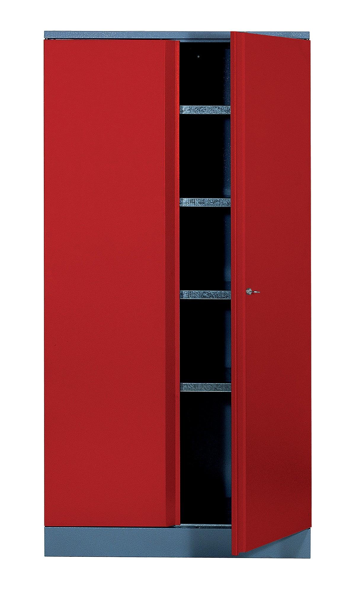 Armoire De Rangement En Metal Rouge Kupper 45 5 Cm 2 Portes Leroy Merlin