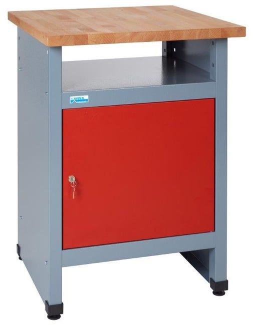 Table D Etabli De Mecanicien Kupper 60 Cm Rouge 1 Porte Leroy Merlin