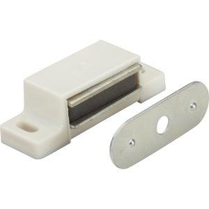 Image : Lot de 10 loqueteaux magnétiques plastique HETTICH, L.14.5 x l.45.3 mm