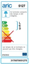 Réglette Bart, LED 1 x 8.5 W, LED intégrée