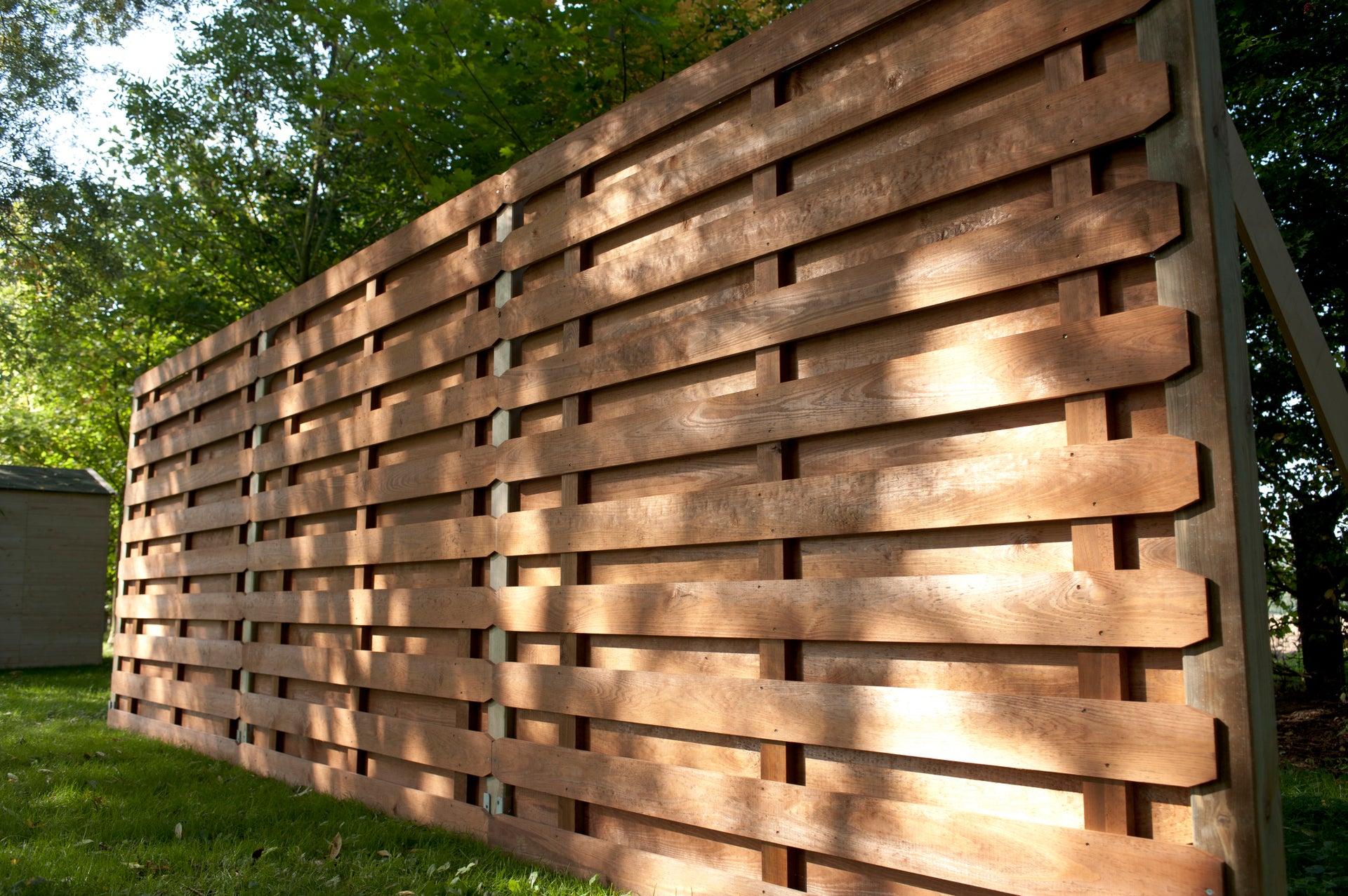 panneau bois occultant oxford l180 x h180 cm marron