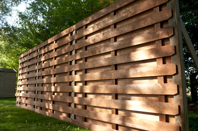 Panneau Bois Occultant Oxford L 180 X H 180 Cm Marron Leroy Merlin