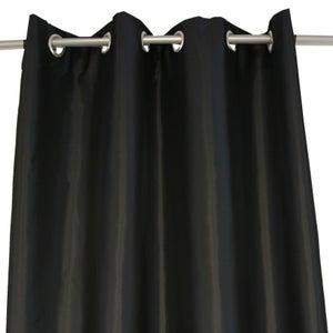 Image : Rideau tamisant, Bengale noir-noir n°0 l.140 x H.260 cm