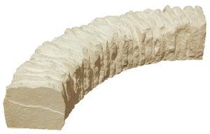 Bordure courbe Cévennes pierre reconstituée ton pierre, H.10 x L.60 cm
