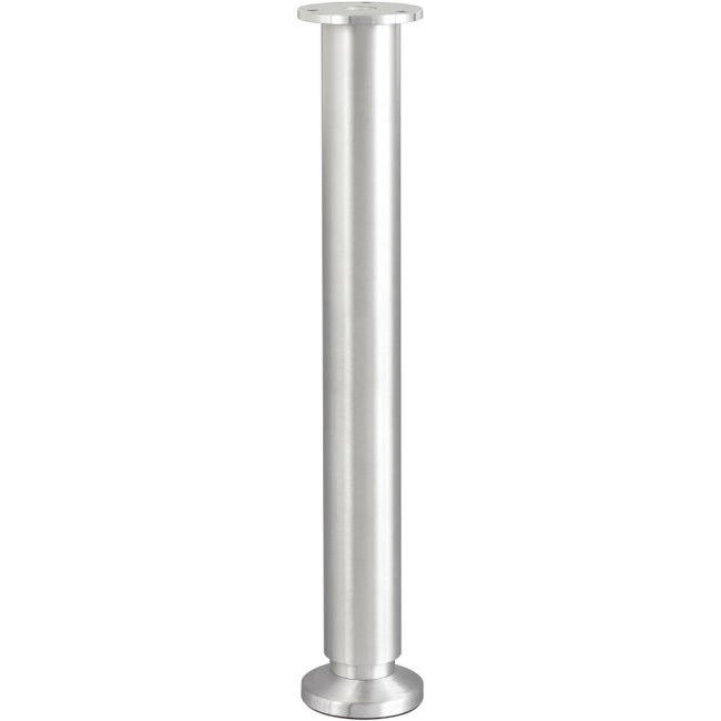 Pied De Lit Sommier Cylindrique Réglable Aluminium Brossé Gris De 35 à 37 Cm
