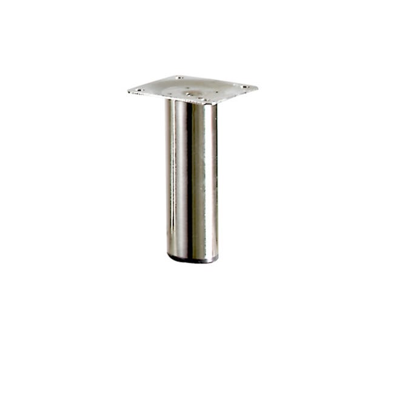 Pied De Meuble Cylindrique Fixe Acier Brosse Gris 10 Cm Leroy Merlin