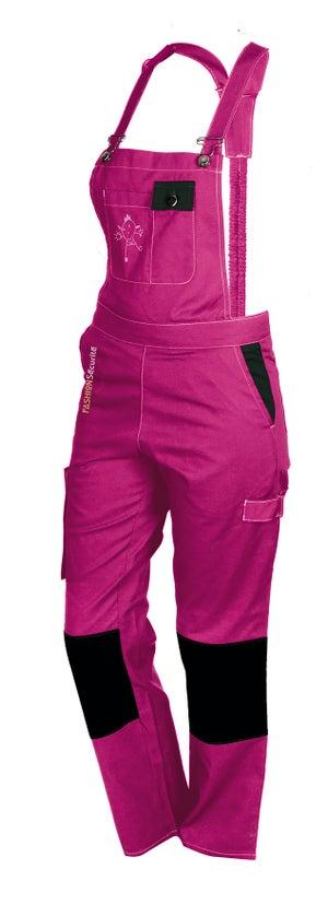 Salopette de travail FASHION SECURITE Pep's, rose / noir taille 36-38