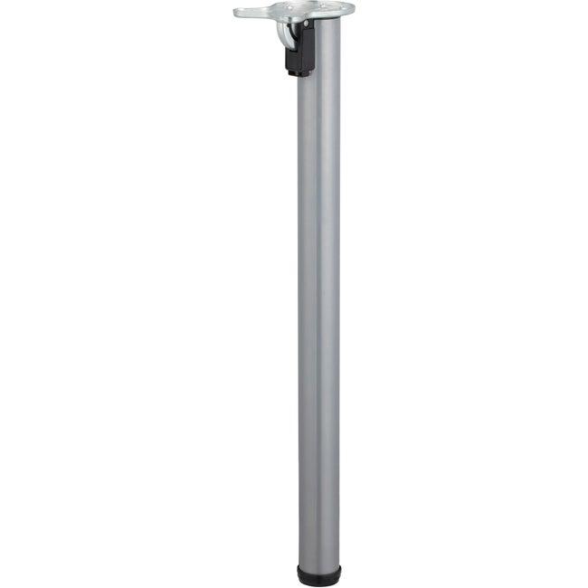 Pied Table Cylindrique Rabattable Acier Epoxy Gris 71 Cm