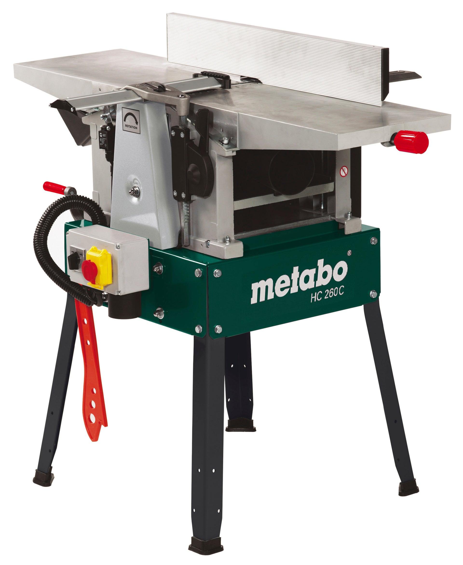 Rabot Stationnaire Dégauchisseuse Metabo Hc260c 2200 W