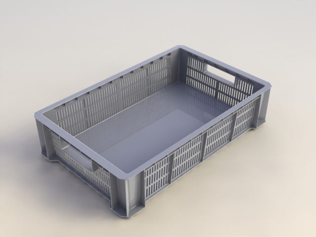 Bac De Manutention Plastique L 35 X P 55 X H 12 Cm Leroy Merlin