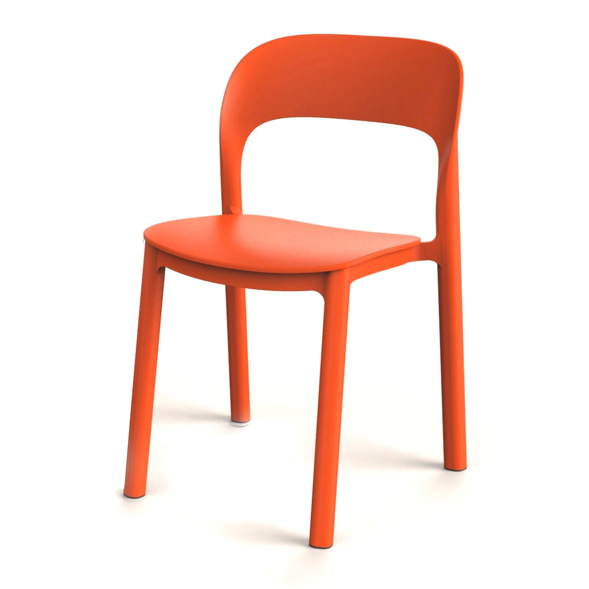 Chaise de jardin en résine injectée Ona orange
