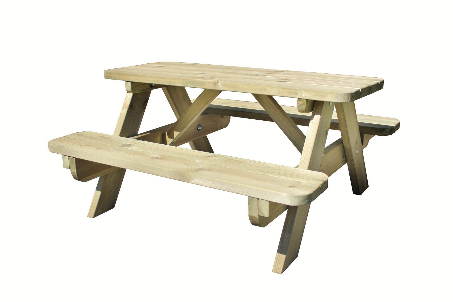table de jardin pour enfants forestière rectangulaire vert