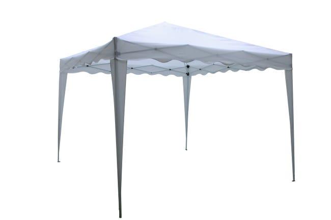 Tente Autoportante Pliable Acier Blanche 9 M Leroy Merlin