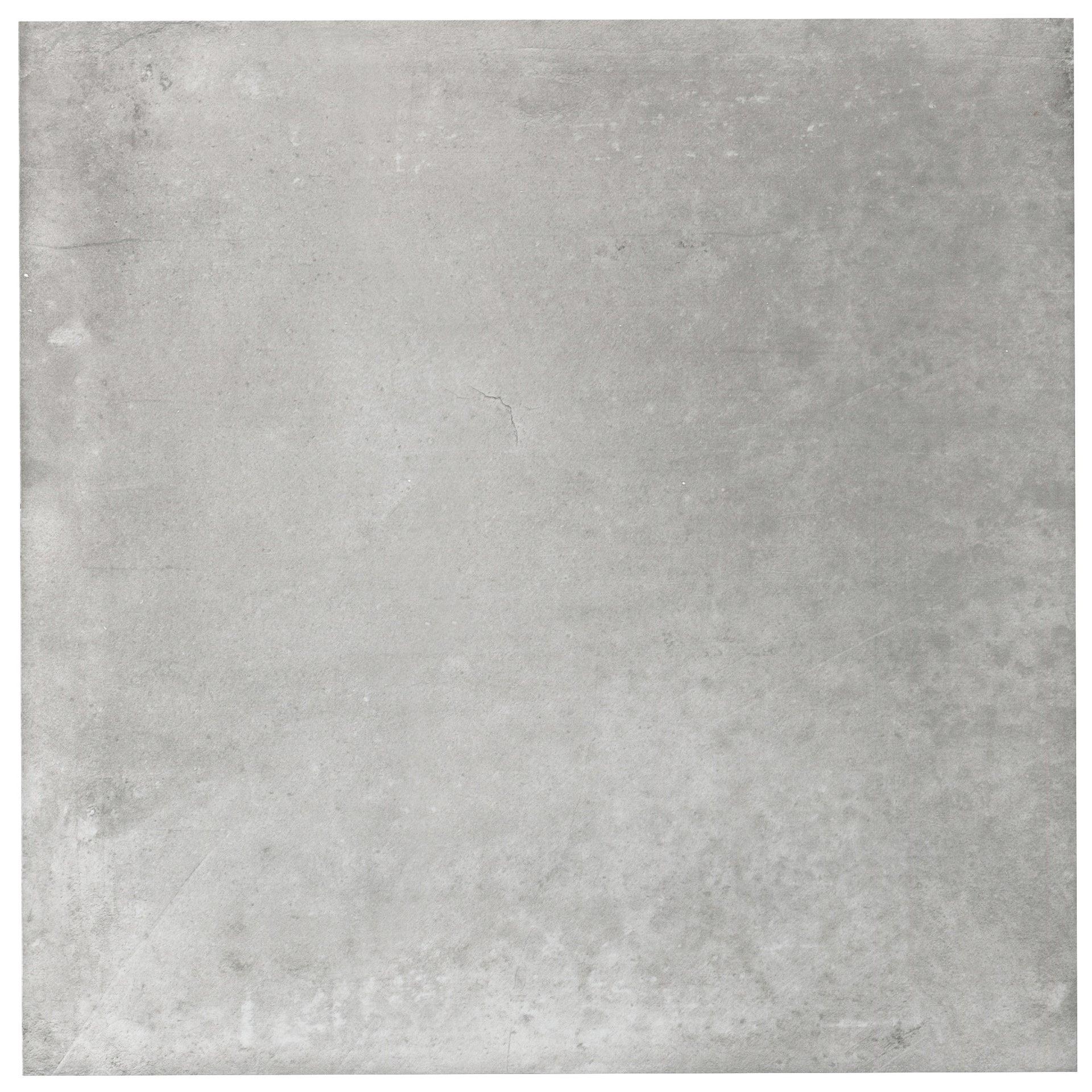 Carrelage sol et mur forte effet béton gris Proton l.60.3 x L.60.3 cm