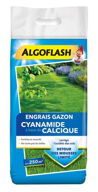 Engrais Gazon Cyanamide Algoflash 12 5 Kg 250 M Leroy Merlin