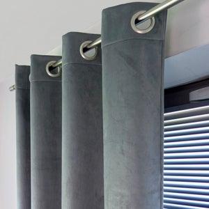 Image : Rideau occultant thermique, Bristol gris steel l.140 x H.260 cm