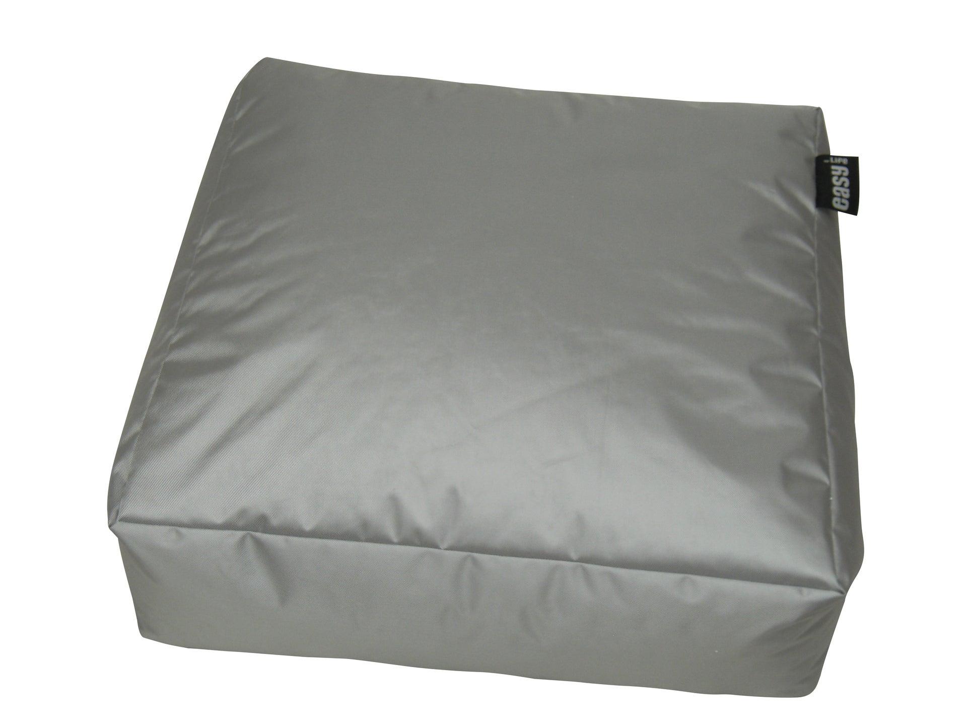 Pouf de sol gris clair Blok, L.90 x l.90 cm