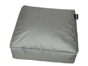 Image : Pouf de sol gris clair Blok, L.90 x l.90 cm