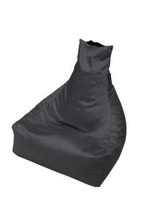 Image : Pouf de sol gris anthracite Yoga, L.80 x l.75 cm