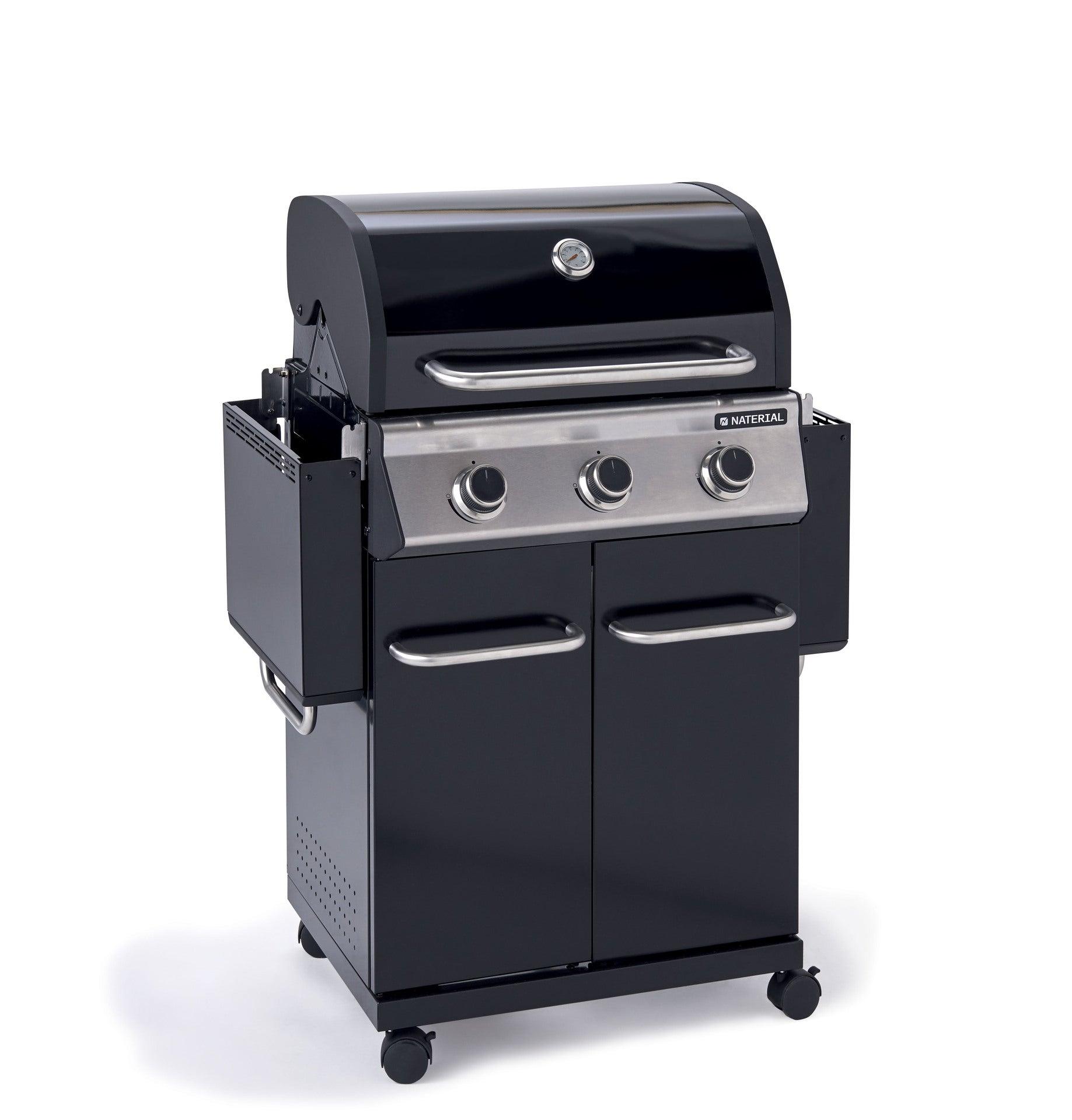 Barbecue au gaz 154 x 55 x 114 cm NATERIAL Kenton, 4