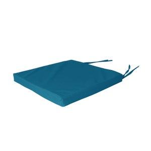 Galette de chaise Enduit pvc, bleu canard l.38 x H.5 cm