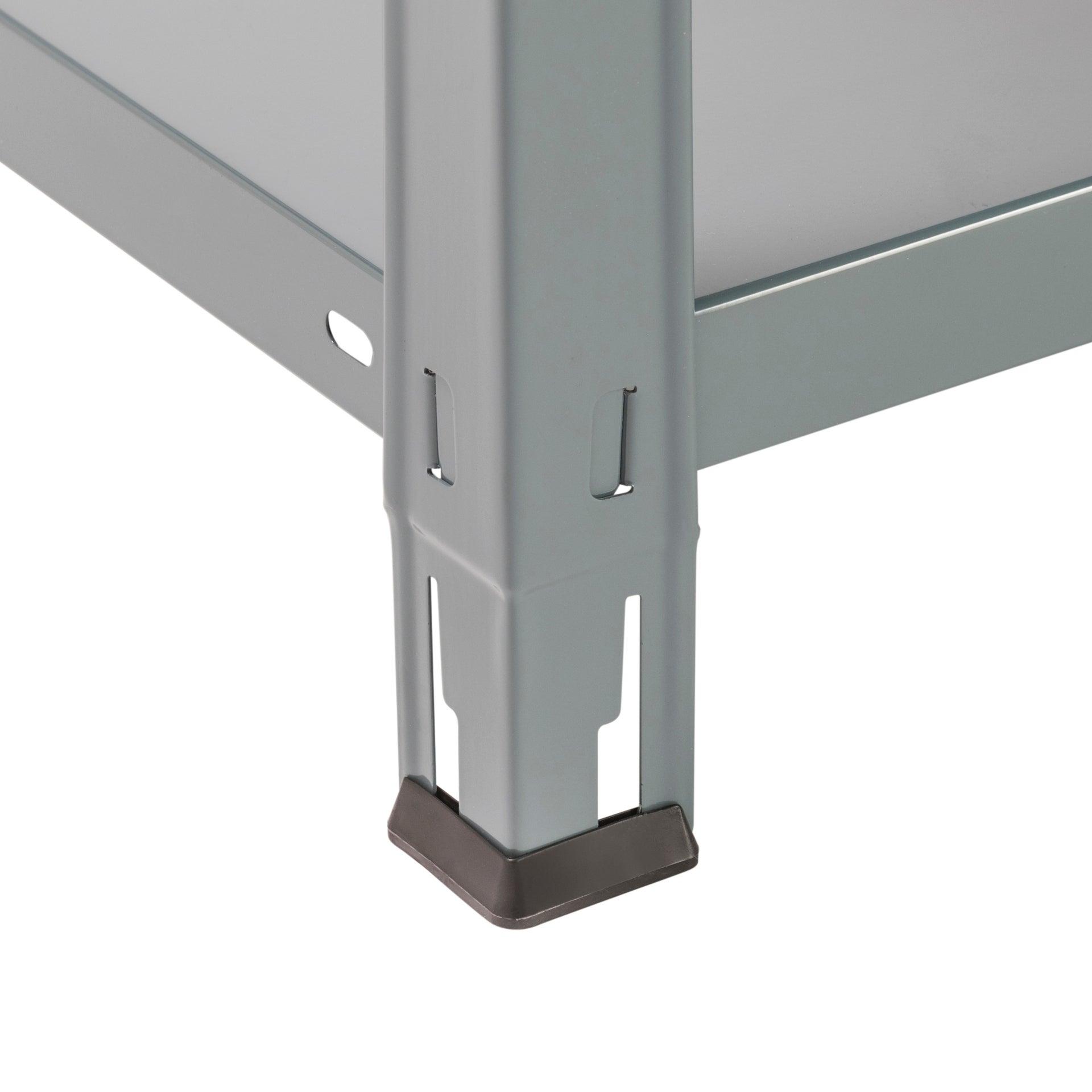 Etagère métal spaceo époxy, 5 tablettes l.90 x H.187 x P.40 cm