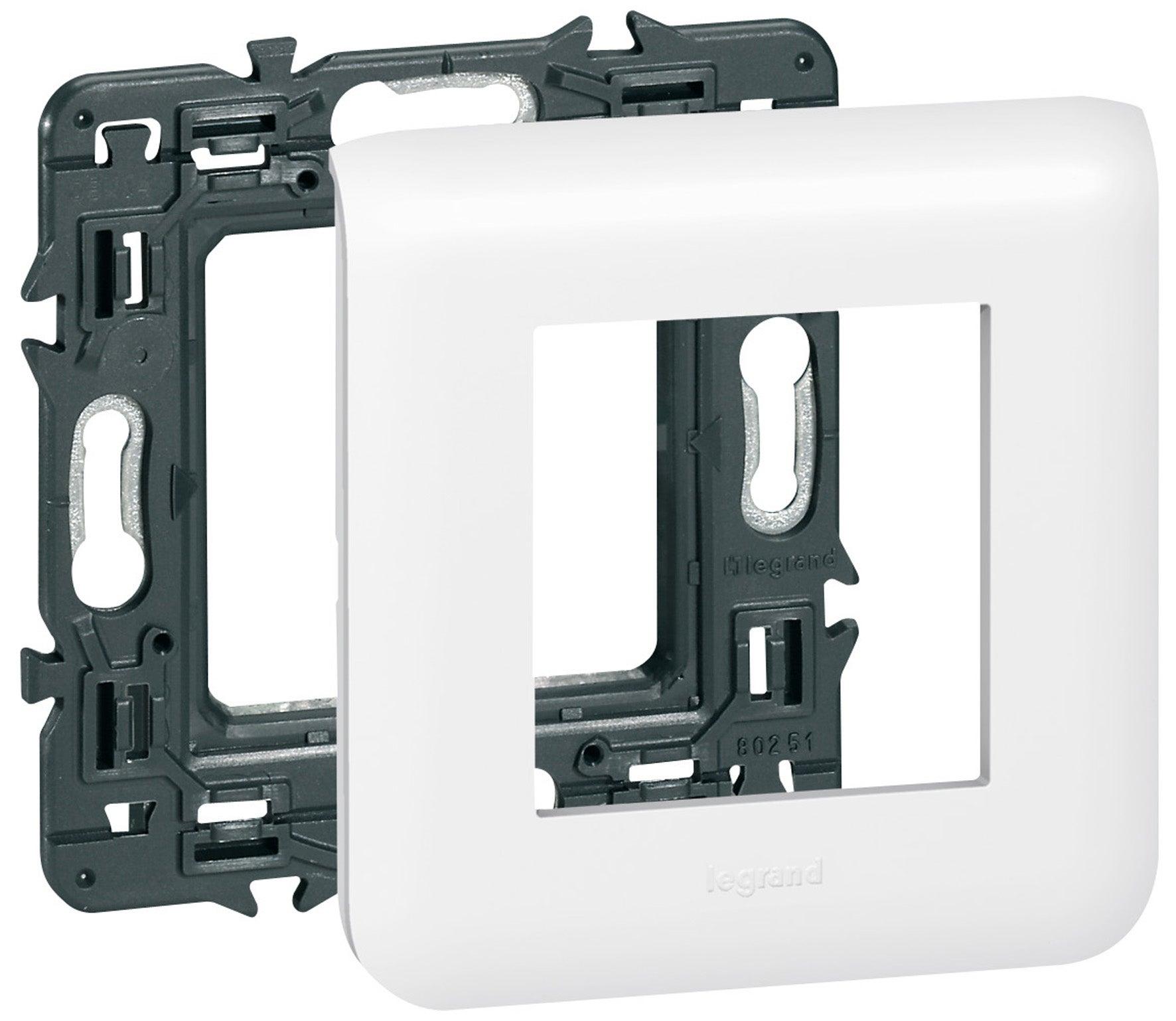 Enjoliveur LEGRAND MOSAIC 78802 ou 788 02 Plaque Simple MOSAIC Blanc