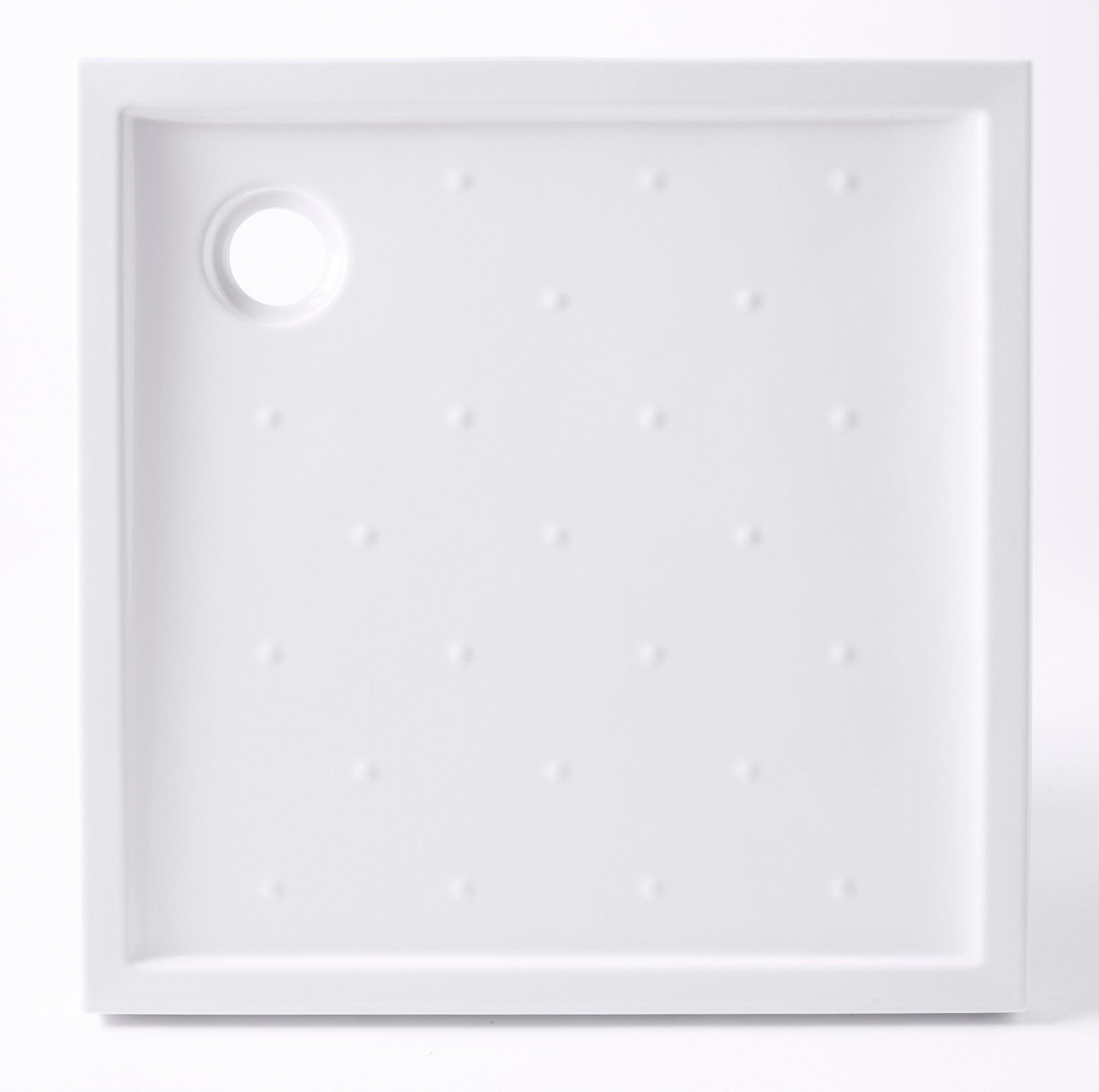 2,5 cm Receveur de douche en marbre min/éral noir 70 x 70 cm Eye