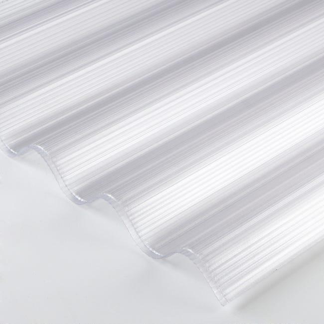 Plaque De Toiture Grande Onde Polycarbonate Cellulaire L 0 92 X L 3 05 M Sedpa Leroy Merlin
