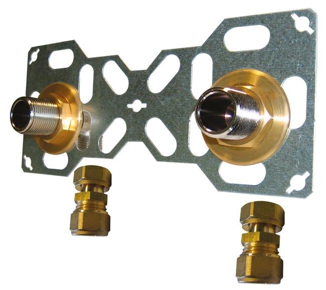 Double Sortie De Cloison Male A Compression Pour Tube Per Diam 12 Mm 20 X 27 Mm Leroy Merlin