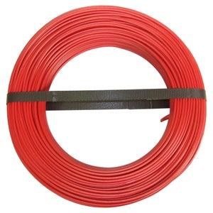Image : Fil électrique 1.5 mm² h07vu, en couronne de 100M rouge