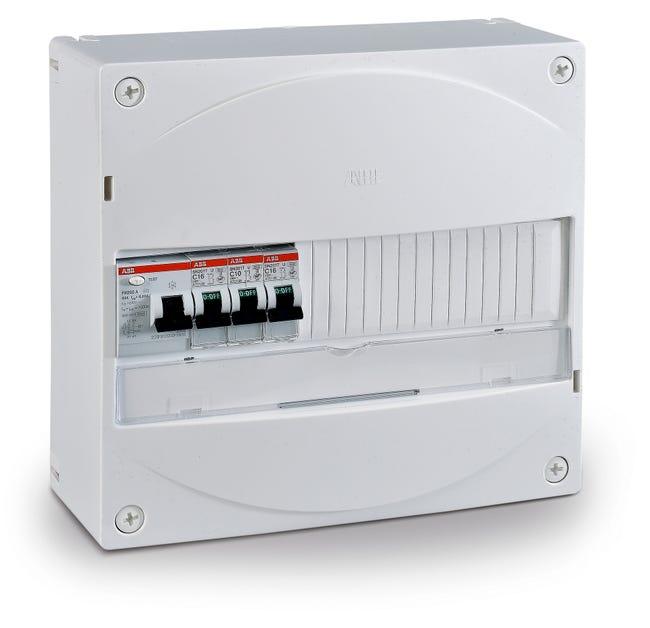 Tableau Electrique Equipe Et Precable Abb 1 Rangee 13 Modules Leroy Merlin