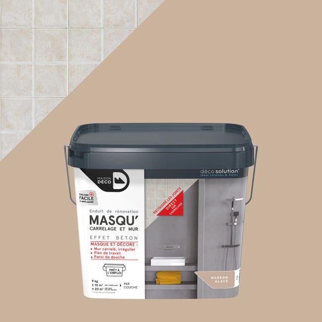 Enduit Masqu Carrelage Et Mur Maison Deco Marron Glace 9 Kg