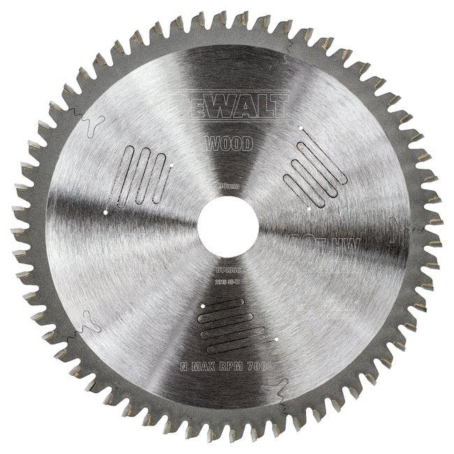 Lame De Scie Circulaire Stationnaire Dewalt 216x30mm 60 Dents