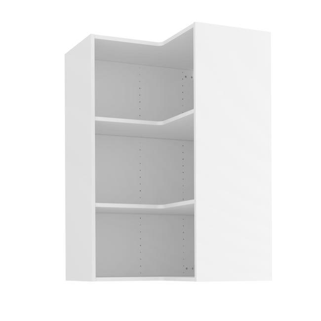 caisson de cuisine meuble haut d angle delinia id blanc h 102 4 x l 67 x p 35cm