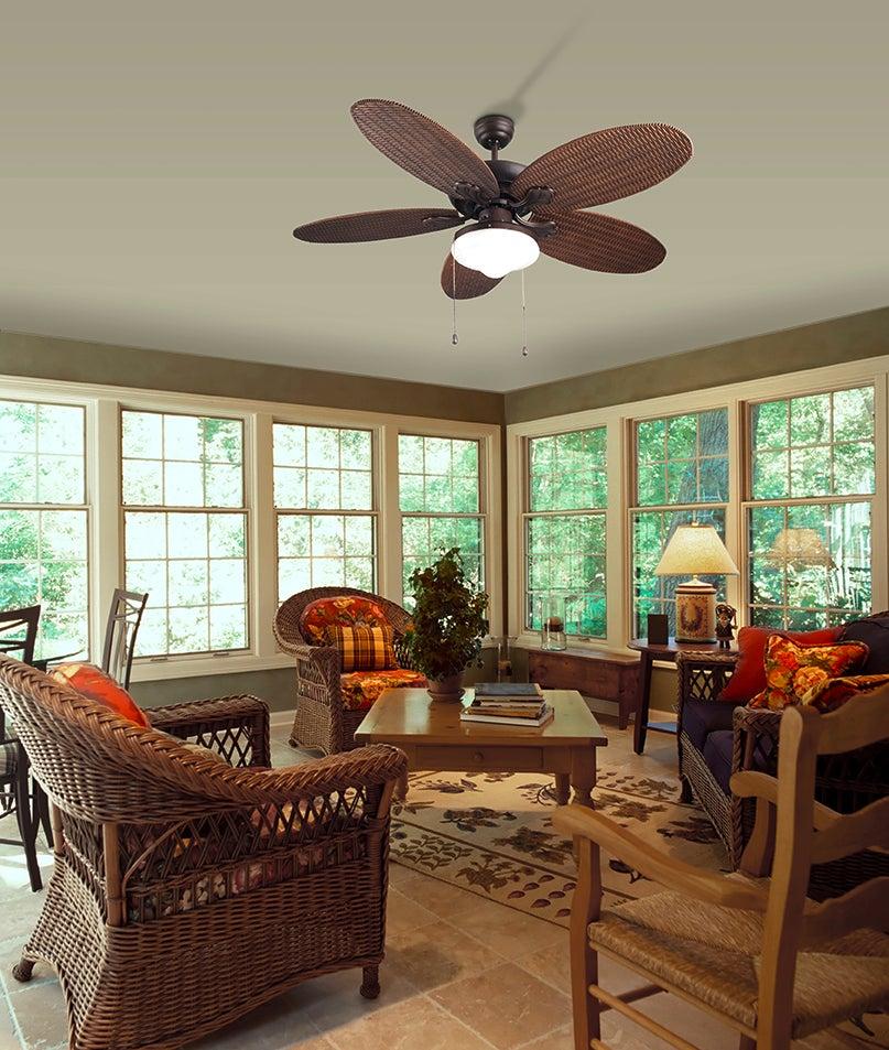 Culture Lampe pour ventilateur plafond phuket de voyants-c4 en différentes couleurs