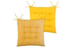 Galette de chaise Used, jaune l.40 x H.5 cm