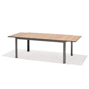 Table de jardin de repas Malibu rectangulaire gris clair 12 personnes