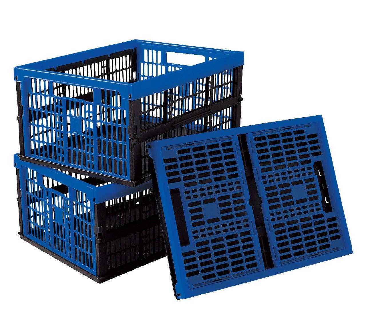Annkky Caisse en Plastique Pliable Pack de 2 Caisse Pliante