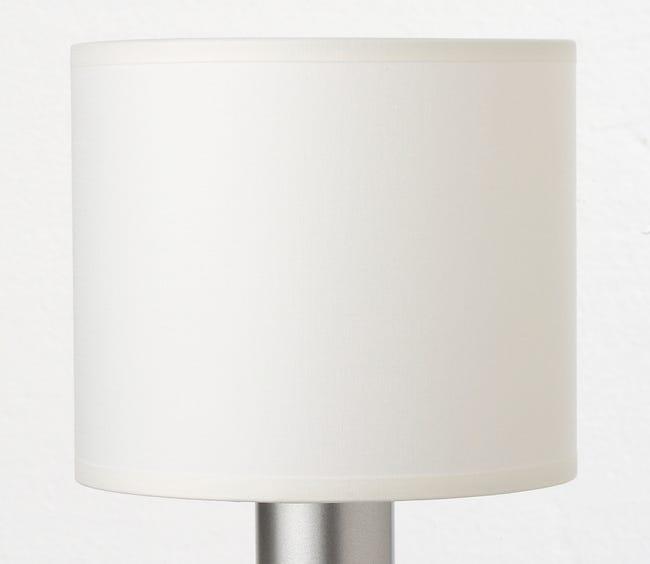 Abat Jour Tube 15 Cm Toiline Blanc Blanc N 0 Inspire Leroy Merlin