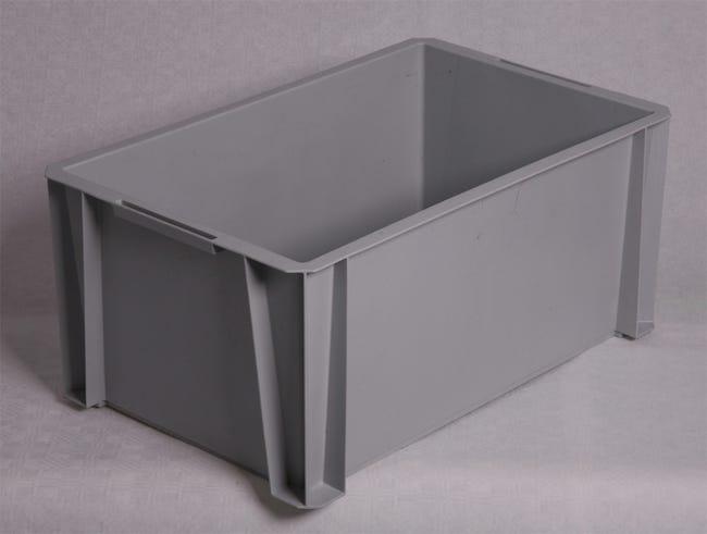 Bac De Manutention Stacking Box Plastique L 55 X P 35 X H 24 5 Cm 36 L Leroy Merlin