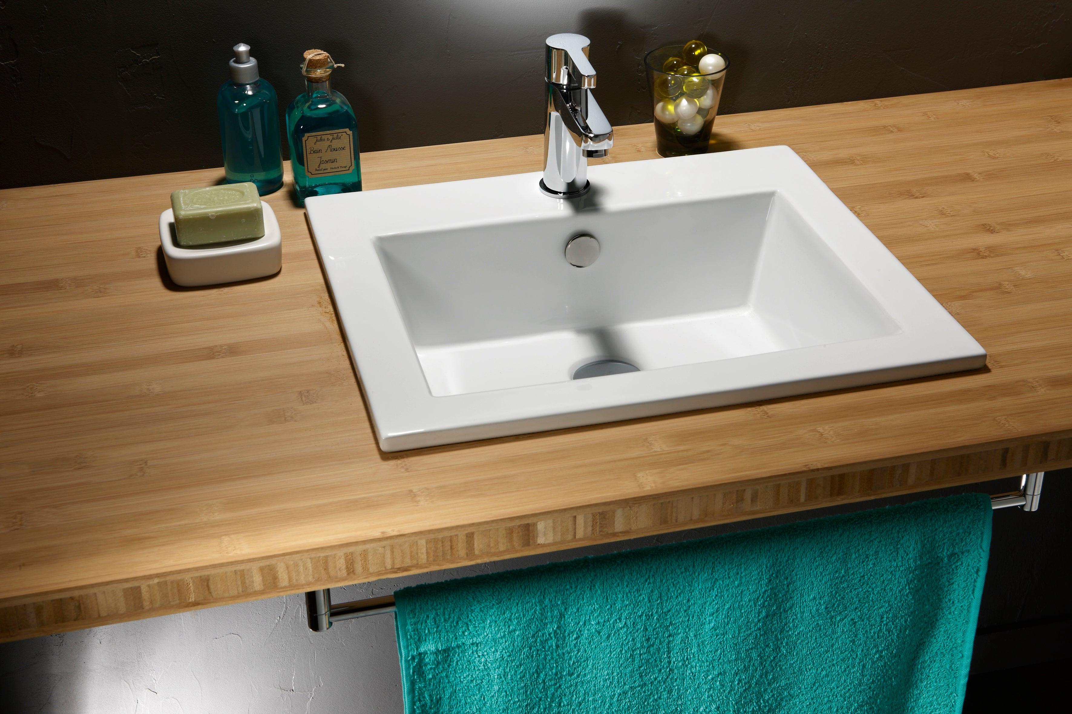 Vasque à encastrer céramique l.15 blanc